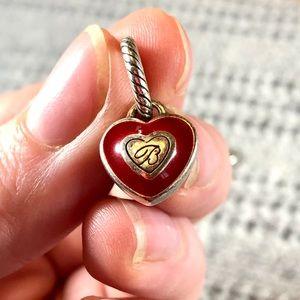 Classic Brighton red heart bracelet charm
